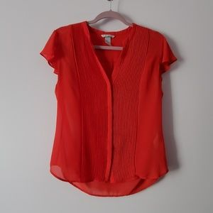 H&M Red Work Blouse Size 10